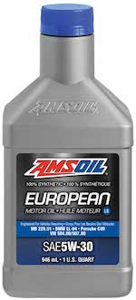 European Car Formula 5W-30 Improved Emissions System Protection Synthetic Oil